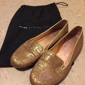 FINAL SALE!!!!! Gold Marc by Marc Jacobs Loafers