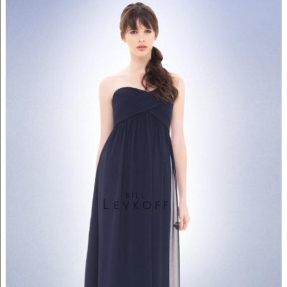 de5c2ea8cdec Bill Levkoff Dresses | Bridesmaid Dress Navy Blue | Poshmark