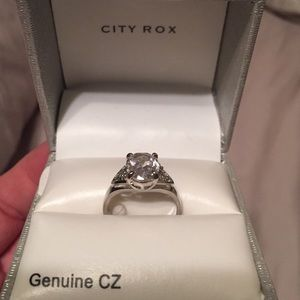 City Rox Jewelry - Size 7 Ring of Cubic Zirconia by City Rox