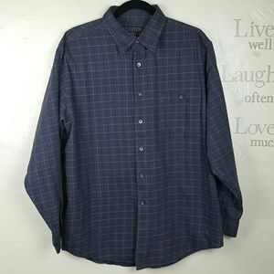 Tradition Other - Mens Grey Plaid Button Up Size XL