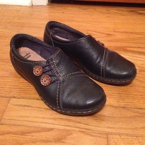 Clarks Evianna Secure Slip-On, Navy 5.5 Flat Shoes