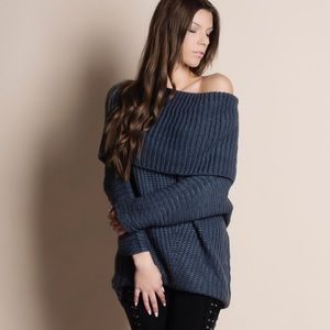NBF ❤️ Spellcast Off Shoulder Chunky Sweater Top