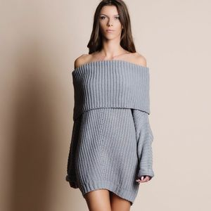 Bare Anthology Sweaters - 1DAYSALE Off Shoulder Chunky Sweater Top