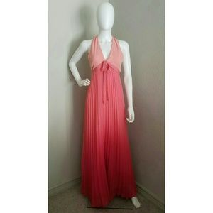 Ombre Pleaded Maxi Dress