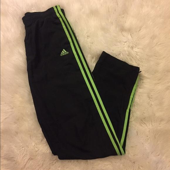 484e27f77bd1 Adidas Pants - Adidas lime green track pants