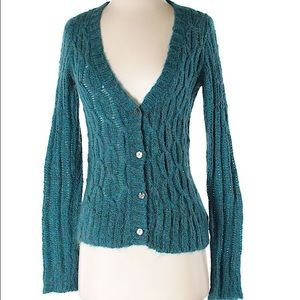 NWOT Urban Outfitters Kimichi Blue Teal Cardigan