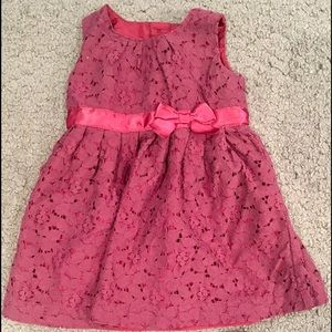 Carter's Burgundy Flower Dress 9M