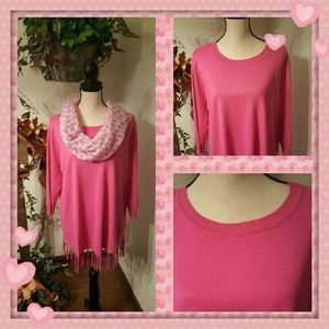 Notations Sweaters - 2 For $20 Sale!  Notations Lotus Pink Sweater