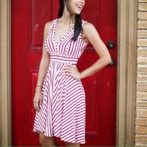 Sophie Max Dresses & Skirts - Red and white striped dress