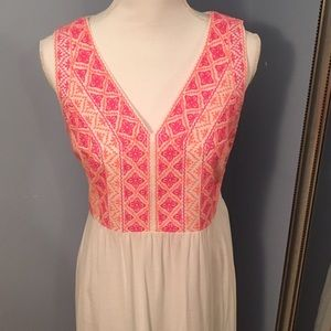 Vineyard Vines Embroidered Maxi Dress