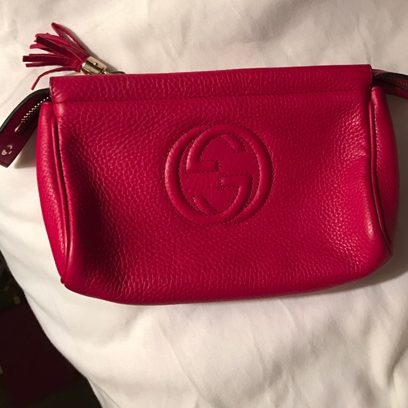 c76c41ac2e1c Gucci Bags   Soho Style Red Leather Clutchtoiletry Case   Poshmark