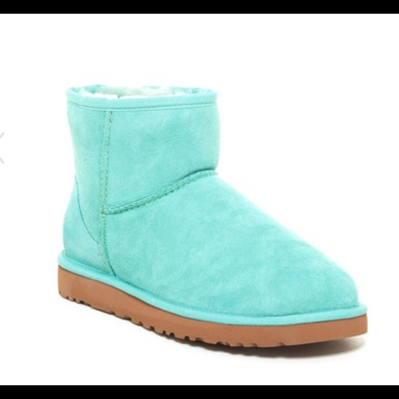 Uggs Classic Mini Aqua Blue 5/ 5.5 NWOT Authentic