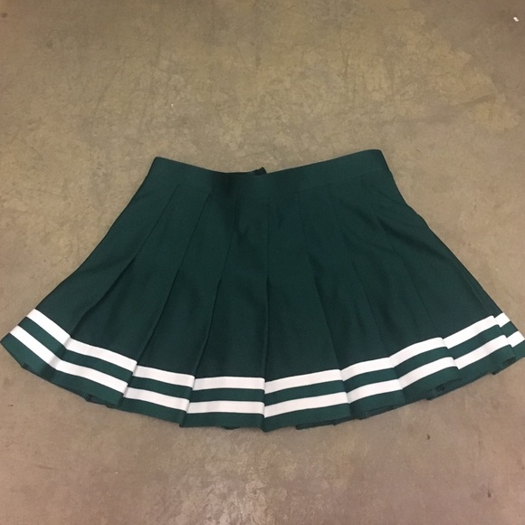 forest green pleated cheer skirt youth medium