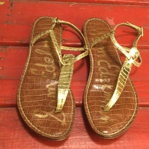 Sam Edelman Shoes - Sam Edelman Gigi 8.5 thong sandal gold snake