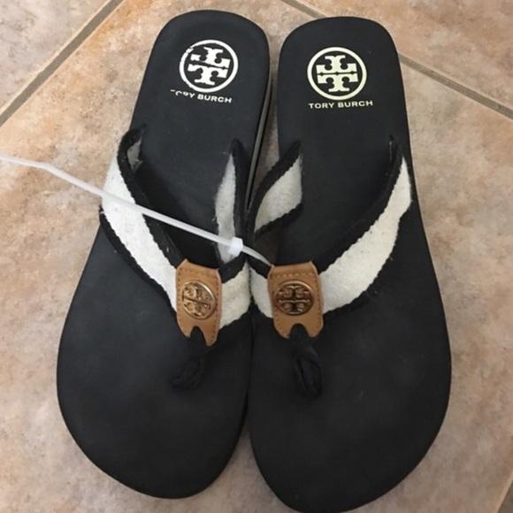6bed6468514b3 Tory Burch Frankie Wedge Flip Flop Sandal Slides 7.  M 586bf604c284567620151595