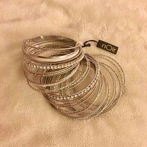 nOir Jewelry Jewelry - Super shiny silver bangles 💎