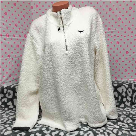 PINK Victoria's Secret - Large Sherpa pullover from Brieana's ...