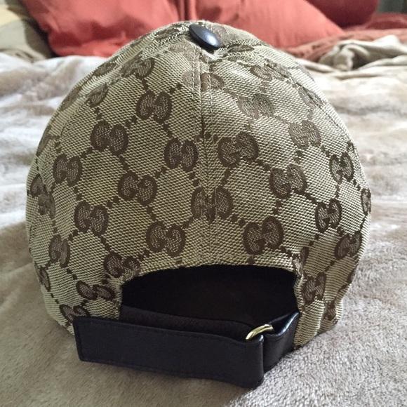 gucci baseball cap black accessories original canvas hat size small replica real vs fake
