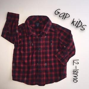 Gap Kids Other - Baby Gap Red Skull Flannel Shirt