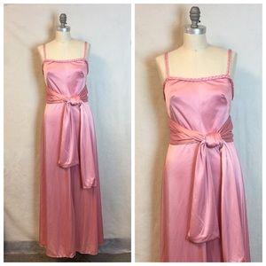 Vintage 70's disco Gown Maxi dress