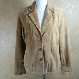 Jones New York Jackets & Blazers - Jones New York Suede Leather Jacket