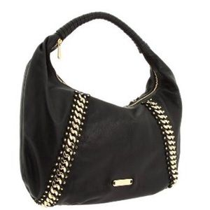 Michael Kors Studded Id Chain Leather Large Hobo