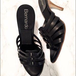 Bernardo Shoes - Bernardo black heeled sandals