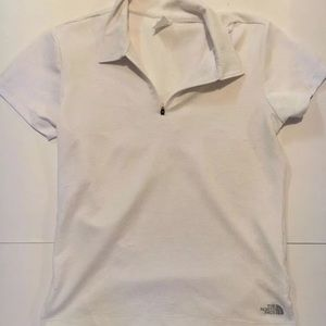 The North Face Tops - North face women's half zip white Active shirt