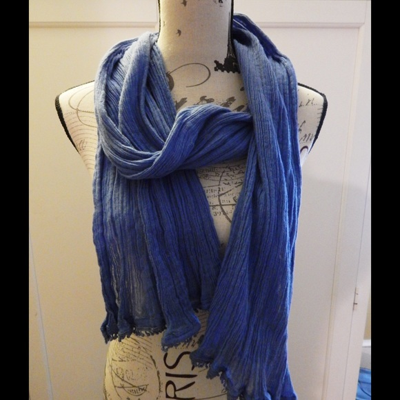 Old Navy Accessories - Old Navy Blue Crinkle Scarf
