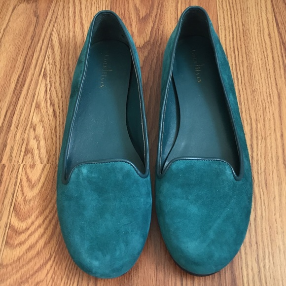 Cole Haan Turquoise Suede Flats mmxgkL378