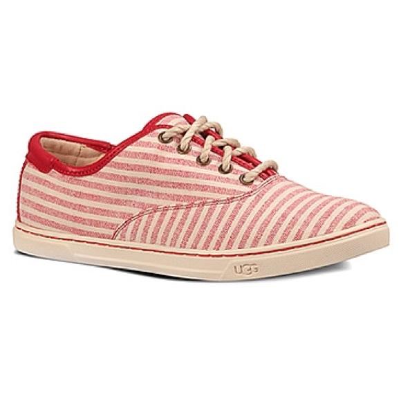 0aa266df647 Host Pick UGG Red & White Striped Eyan II Sneakers