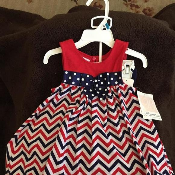7019769c54f40 Bonnie Baby Dresses | Red White And Blue Dress Set | Poshmark