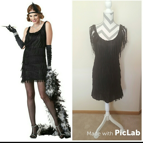 900442be70b California Costume Collection Dresses   Skirts - Flapper Roaring 20s Fringe  Swing Halloween Costume