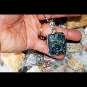 "handmade & handcrafted gemstone jewelry Jewelry - African Kambaba Pendant 2"" 925 Silver"