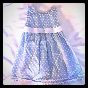 "Princess Linens Other - Princess Linens Blue Gingham Sash Dress ""C"""