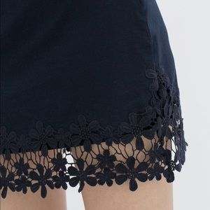 Zara Floral Embroidered Canvas Skirt