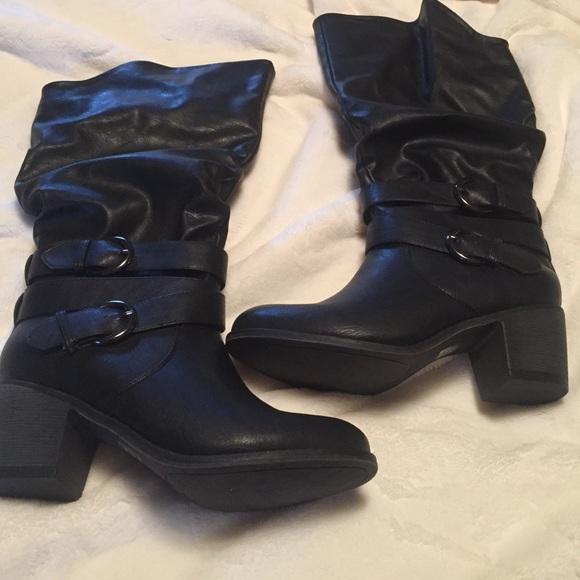 c62cf509677 Brand new Black wide calf boots