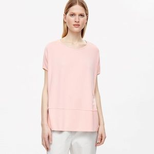 COS SQUARE CUT JERSEY TOP