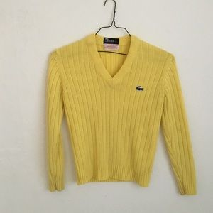Yellow Lacoste sweater