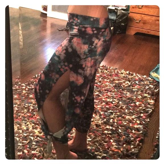 98423f6942 onzie Pants   Pura Vida Split Leg Yoga Gypsy Pant   Poshmark