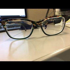 b011008252 FYSH Accessories - FYSH Tortoise Dark Green Eyeglass Frames