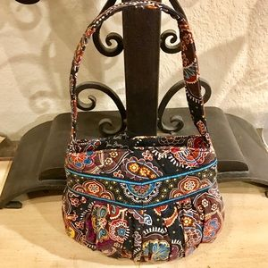 Vera Bradley Small Quilted Print Hobo