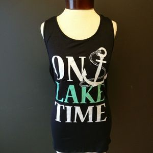 CLE Threads Tops - On Lake Time tank top (black)
