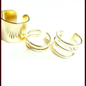 DARLING Jewelry - 🆕 GOLD 3 PIECE ADJUSTABLE MIDI RING SET