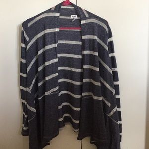 Splendid Blue and White Striped Sweater