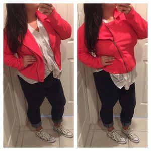 Neon pink Moto jacket