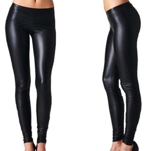 a204077ad42c24 Pants | Faux Leather Legging Low Rise S M L Xl Pleather | Poshmark