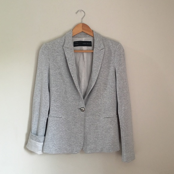 Zara - GRAY Zara Basic Jersey Blazer from Kelle grey's closet on ...