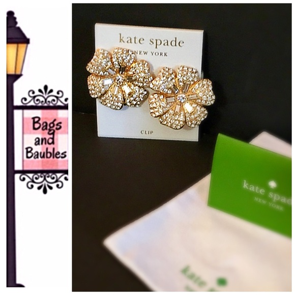 Kate Spade Jewelry Price Firm Pave Posey Clip Earring Nwt Poshmark