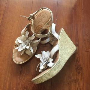 Anthropologie Shoes - Born White Flower Wedge Sandal